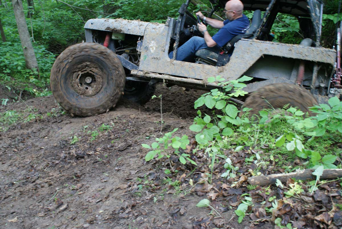 Jeep on Myers trail
